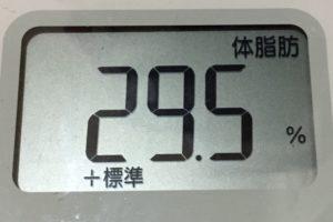 痩せるまでダイエット110日目の体脂肪
