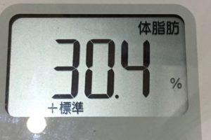 痩せるまでダイエット111日目の体脂肪