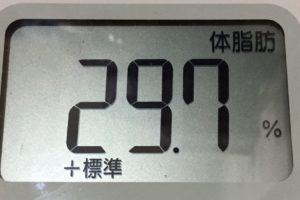 痩せるまでダイエット112日目の体脂肪