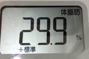 痩せるまでダイエット113日目の体脂肪