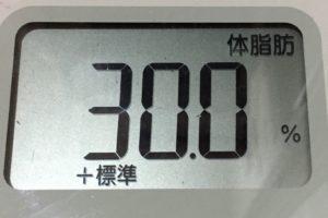 痩せるまでダイエット117日目の体脂肪