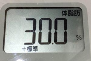 痩せるまでダイエット119日目の体脂肪体脂肪